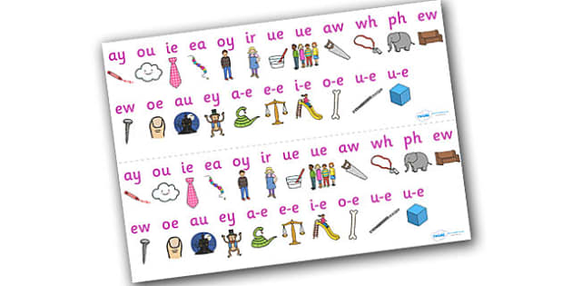 Phase 5 Sound Strips - Sound strip, Letters and Sounds, DfES Letters and Sounds, Phase 5, Phase five, Foundation, Literacy, Mnemonic Images