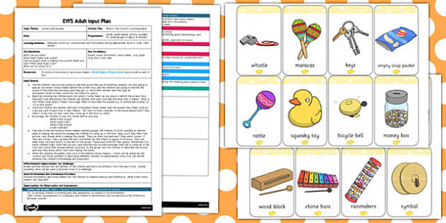 What's That Sound? Listening Game EYFS Adult Input Plan and Resource Pack