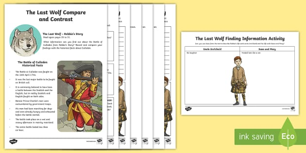 Novel Study Resource Pack to Support Teaching on The Last Wolf by Michael Morpurgo  - The Last Wolf, michael morpurgo, novel study, novel studies, resource packs, languages, cfe second
