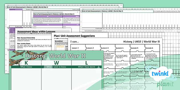 PlanIt History UKS2 PlanIt UKS2 World War II Unit Assessment Pack