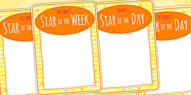 Star Of The Week Decorative Posters - star of the week, poster