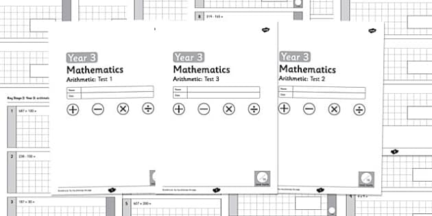 Year 3 Arithmetic Full Tests - arithmetic, full tests, full, tests, year 3