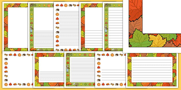 Autumn Page Borders
