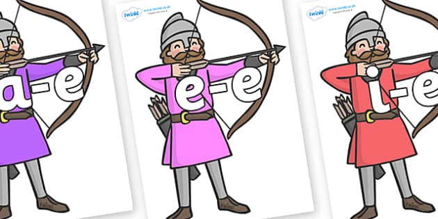 Modifying E Letters on Archers - Modifying E, letters, modify, Phase 5, Phase five, alternative spellings for phonemes, DfES letters and Sounds