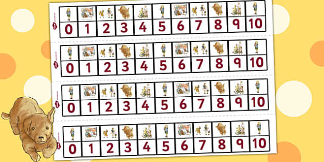 Number Track 0-10 to Support Teaching on Dogger - numeracy, line, numbers, tool, dogger