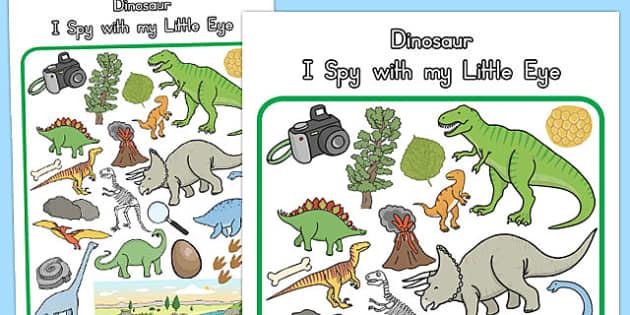 Dinosaur Themed I Spy With My Little Eye Activity - australia