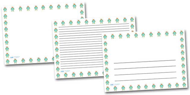 Alien Landscape Page Borders- Landscape Page Borders - Page border, border, writing template, writing aid, writing frame, a4 border, template, templates, landscape