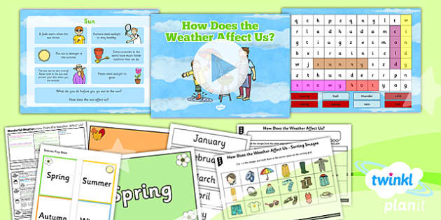 PlanIt - Geography Year 1 - Wonderful Weather Lesson 2: How Does the Weather Affect Us? Lesson Pack