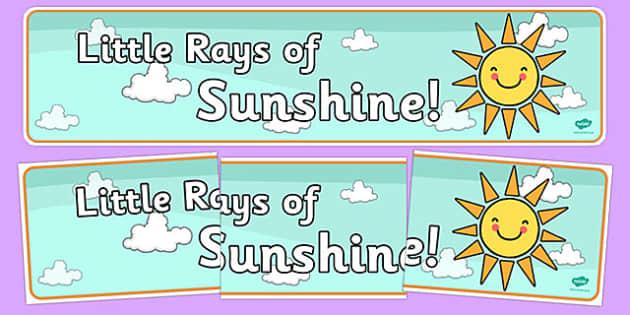 Little Rays of Sunshine Display Banner - little rays of sunshine, display banner, display, banner