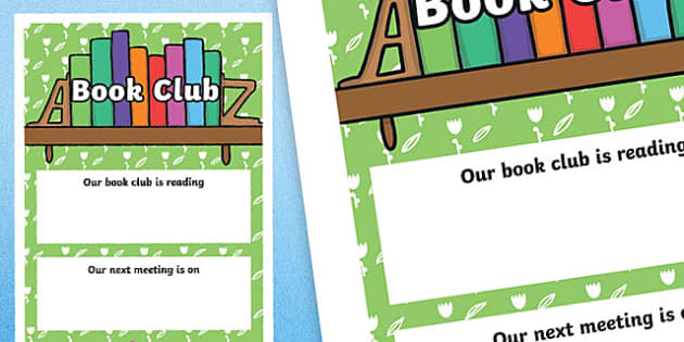 Book Club A4 Display Poster-Scottish