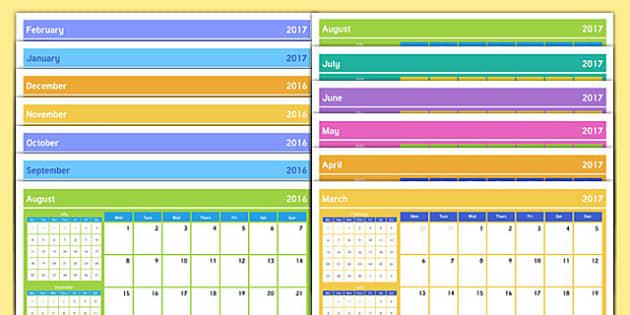 Academic Year Calendar August 2016 to August 2017 Scotland - academic year, calendar, august 2016, august 2017