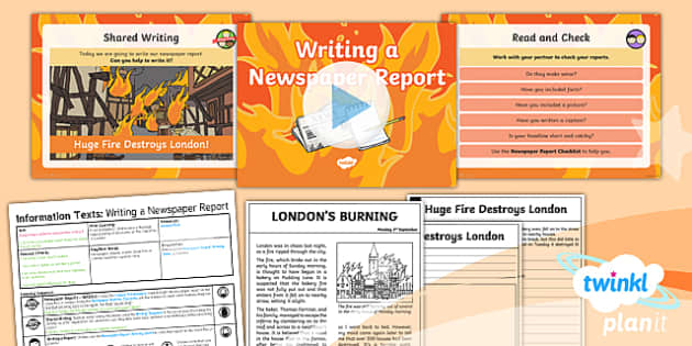 PlanIt Y1 Time Travel: The Great Fire of London Lesson Pack Recounts (4)