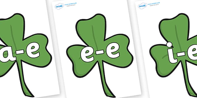 Modifying E Letters on Clovers - Modifying E, letters, modify, Phase 5, Phase five, alternative spellings for phonemes, DfES letters and Sounds