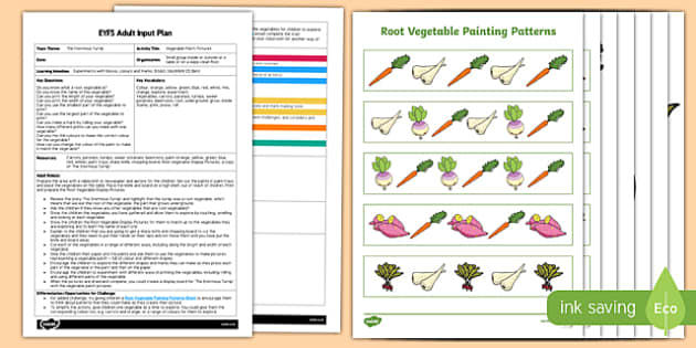 EYFS Vegetable Patch Pictures Adult Input Plan and Resource Pack