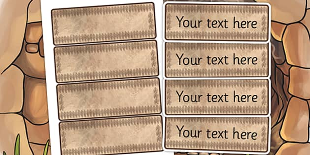 Stone Age Themed Editable Labels - the stone age, signs, label