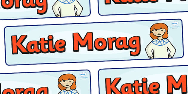 Display Banner to Support Teaching on Katie Morag - Katie Morag, banner, display, sign, poster, Mairi Hedderwick, story, fine motor skills, scotland, scottish, book, resources, story book