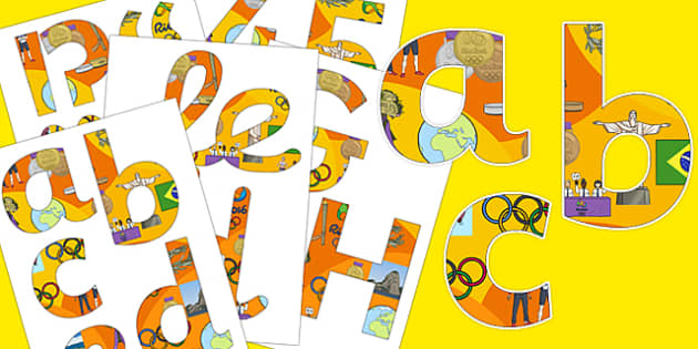 Rio Olympics 2016 Display Lettering Pack - rio 2016, rio olympics, rio olympics 2016, 2016 olympics, display lettering, pack