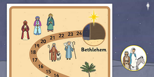 Journey to Bethlehem Interactive Advent Calendar Display - journey, bethlehem, advent calendar, display