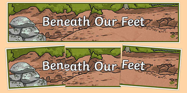 Beneath Our Feet Display Banner - australia, Australian Curriculum, Change Detectives, science, year 6, banner, wall display