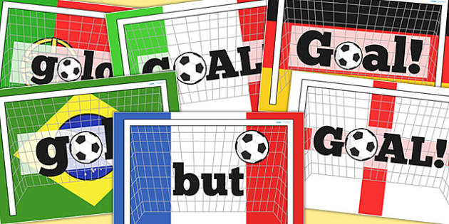 Around the World Goal Display Posters - languages, football