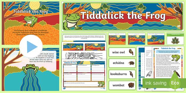 Tiddalick the Frog Activity Pack-Australia