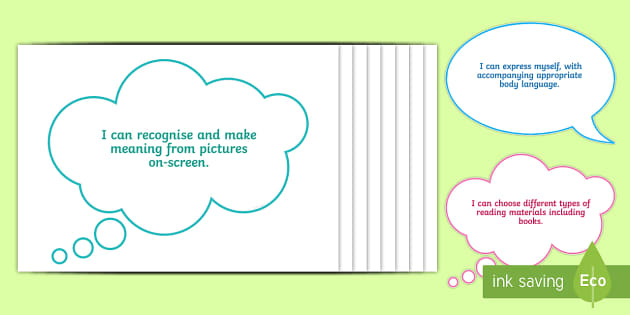 I Can... Literacy Statements for Nursery Display Cut-Outs - LNF Statements, LNF Display in Foundation Phase, Literacy Display, LNF Display, Nursery Display.,Wel