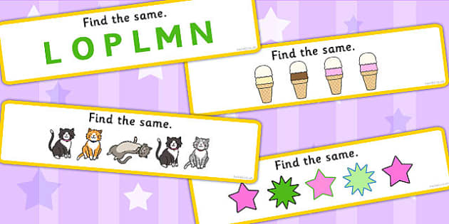 Find The Same Concept Activity Cards - similarities, visual aid, game cards, game