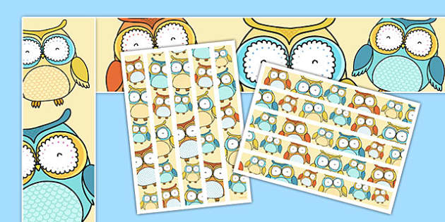 Cute Owl Themed Display Borders - cute owl, themed, display borders, display, borders