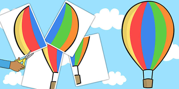 A2 Large Hot Air Balloon Cut Out - cut out, balloon, hot air, a2
