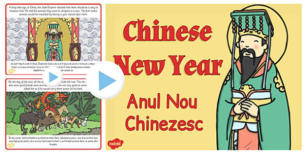 Chinese New Year Story PowerPoint EAL Romanian Translation-eal