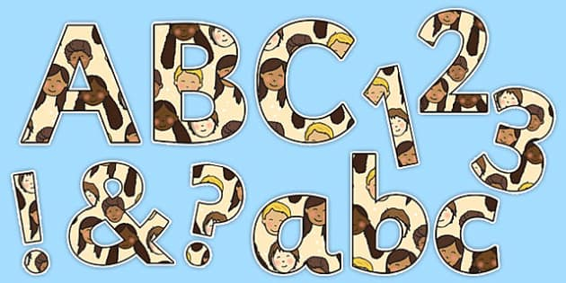 We Are All Special! Display Letters and Numbers Pack - we are all special, display, letters, numbers