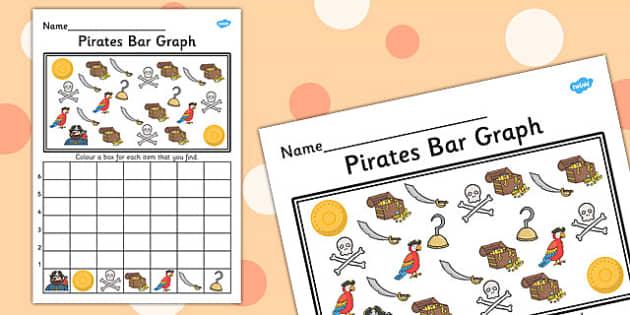 Pirates Bar Graph - pirates, bar graph, bar, graph, activity