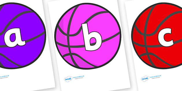 Phoneme Set on Basketball - Phoneme set, phonemes, phoneme, Letters and Sounds, DfES, display, Phase 1, Phase 2, Phase 3, Phase 5, Foundation, Literacy