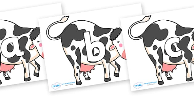 Phoneme Set on Bullabaloo Cow to Support Teaching on Farmyard Hullabaloo - Phoneme set, phonemes, phoneme, Letters and Sounds, DfES, display, Phase 1, Phase 2, Phase 3, Phase 5, Foundation, Literacy