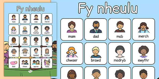 fy nheulu Vocabulary Poster Cymraeg - cymraeg, welsh, my family, vocabulary poster, vocabulary, poster, display