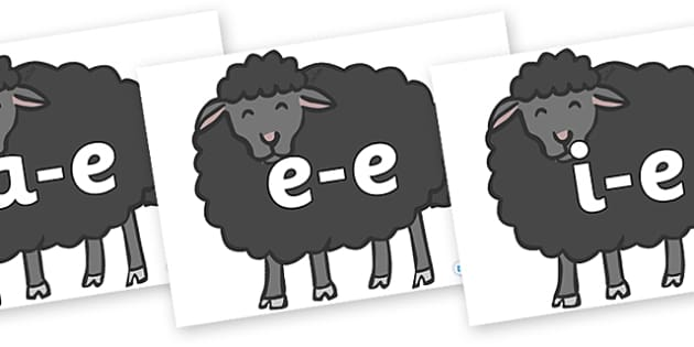 Modifying E Letters on Baa Baa Black Sheep - Modifying E, letters, modify, Phase 5, Phase five, alternative spellings for phonemes, DfES letters and Sounds