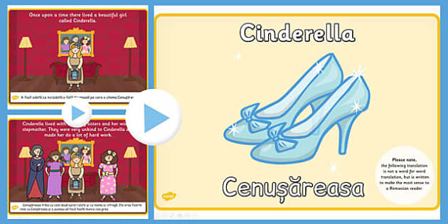 Cinderella Story PowerPoint EAL Romanian Translation - romanian