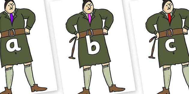 Phase 2 Phonemes on Mrs Trunchbull to Support Teaching on Matilda - Phonemes, phoneme, Phase 2, Phase two, Foundation, Literacy, Letters and Sounds, DfES, display