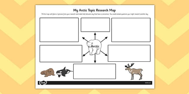 The Arctic Topic Research Map - arctic, topic, research map, map