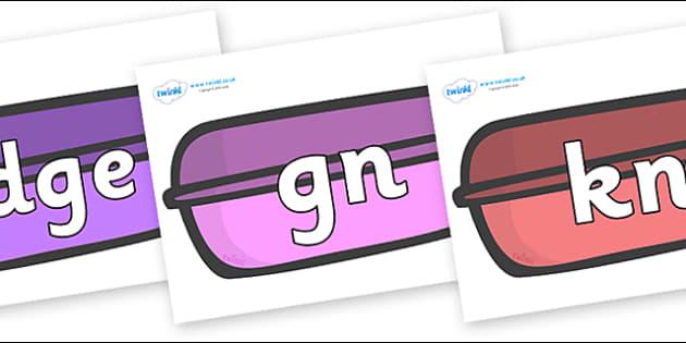 Silent Letters on Packets - Silent Letters, silent letter, letter blend, consonant, consonants, digraph, trigraph, A-Z letters, literacy, alphabet, letters, alternative sounds