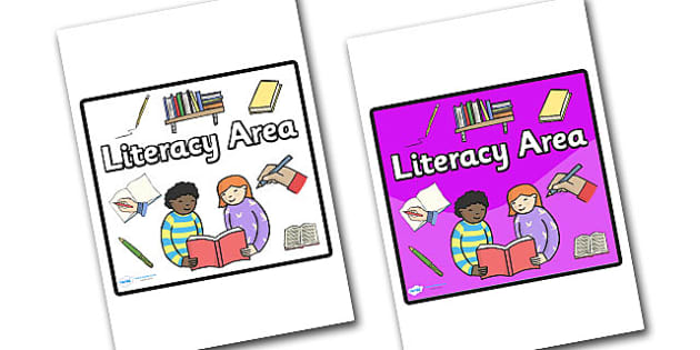 Literacy Area Sign - sign, display sign, area display sign, area sign, area, classroom areas, school areas, classroom area signs, topic signs, topic area signs