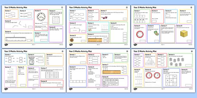 Year 3 Summer 1 Maths Activity Mats