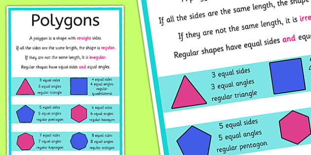 Polygons Poster - australia, polygons, poster, display, maths