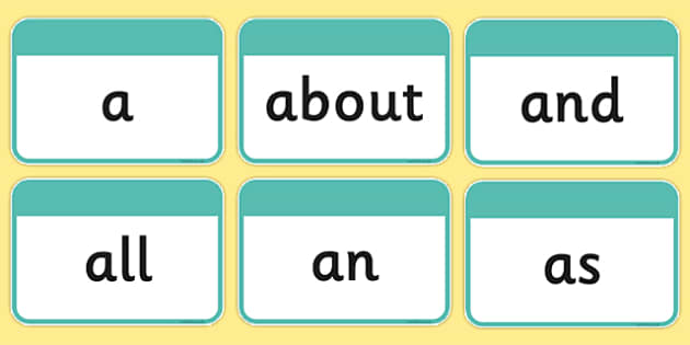 100 High Frequency Words Flashcards - DfES Letters and Sounds, Letters and Sounds, Letters and sounds words, High frequency words, word flashcards