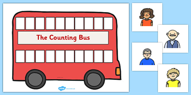 Bus Counting Activity Pack - counting, activity, pack, bus, count