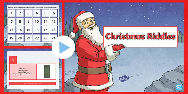 A Riddle a Day for Christmas PowerPoint - Christmas Scotland,Scottish, riddle, advent calendar, advent