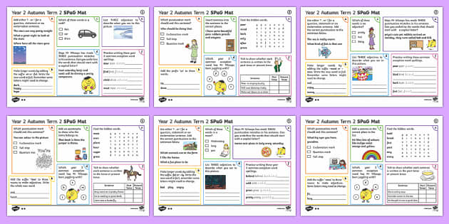 Year 2 Autumn Term 2 SPaG Activity Mats