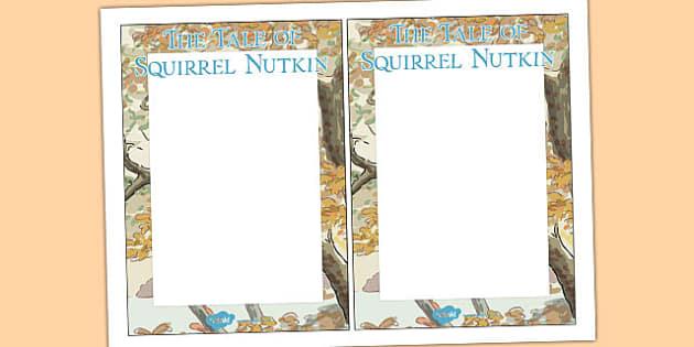 The Tale of Squirrel Nutkin Editable Note - squirrel nutkin