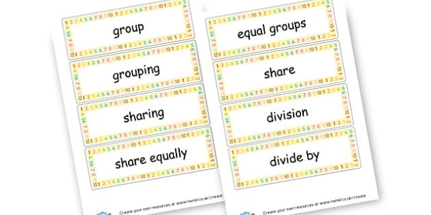 Division Key Words ks1 Division Primary Resources Division – Division Worksheets Primary Resources