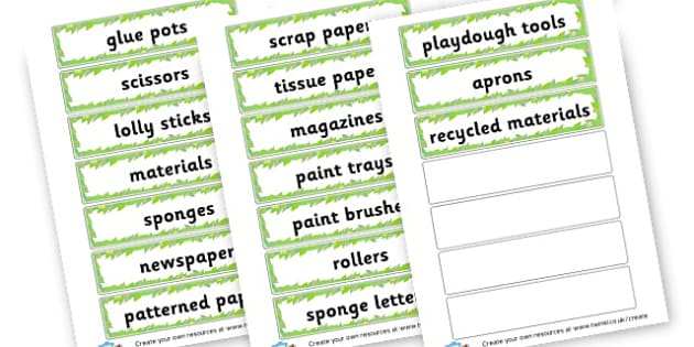 Art labels - Classroom Labels Primary Resources, book label, resource label